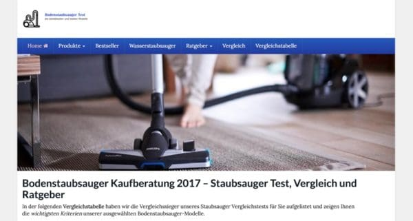 die-besten-bodenstaubsauger.de / Affiliate Projekt