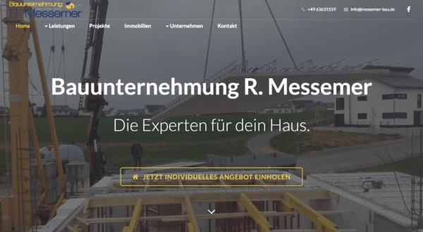 messemer-bau.de – Kundenwebsite mit Webdesign und SEO